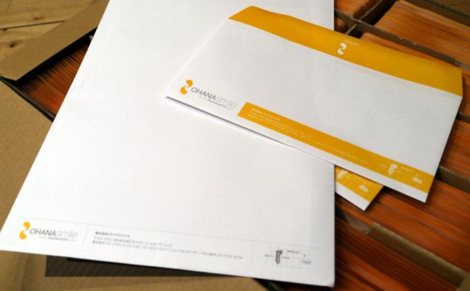 オハナスマイルの封筒でけました!